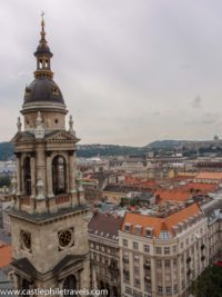 Overlooking Budapest from the dome of St Stephen's Basilica