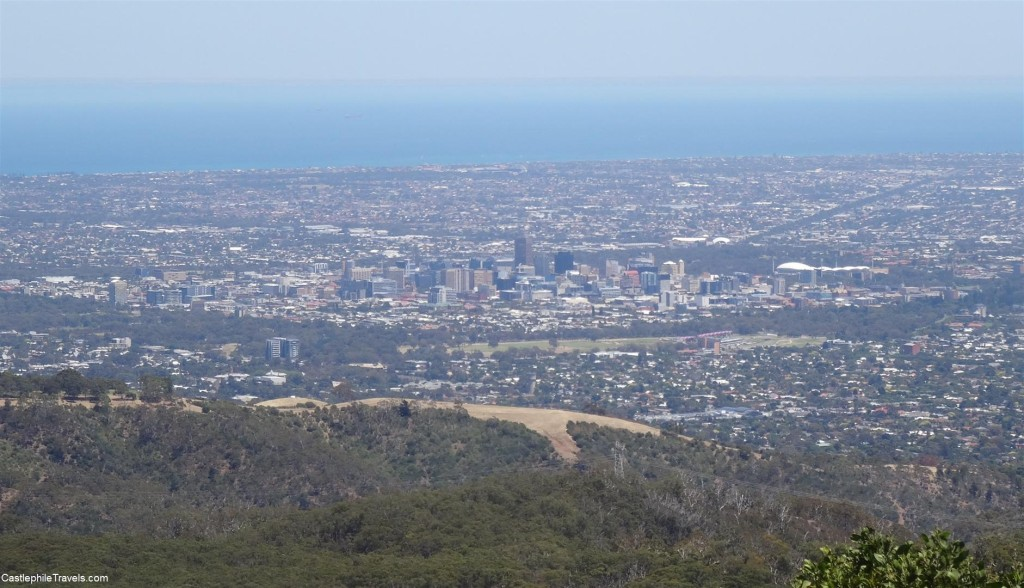The view over Adelaide from Mount Lofty Summit
