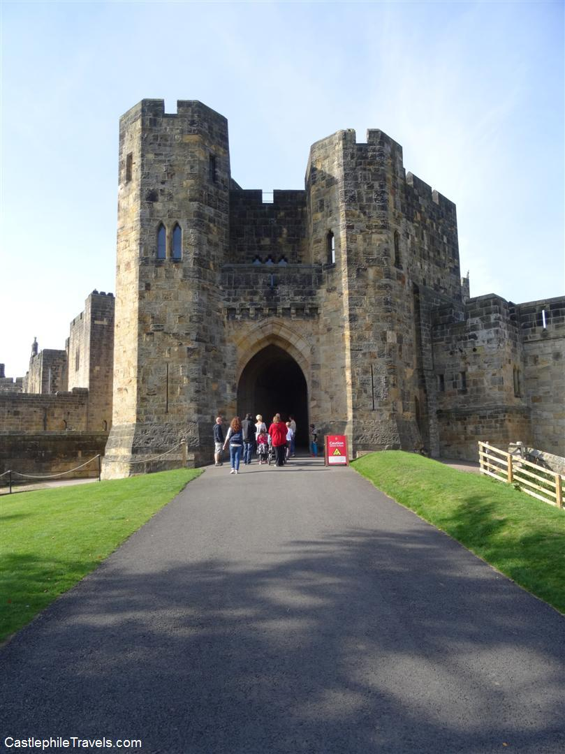The entry to Alnwick Castle