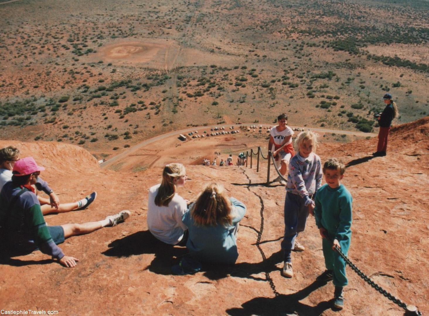 Climbing Ayer's Rock