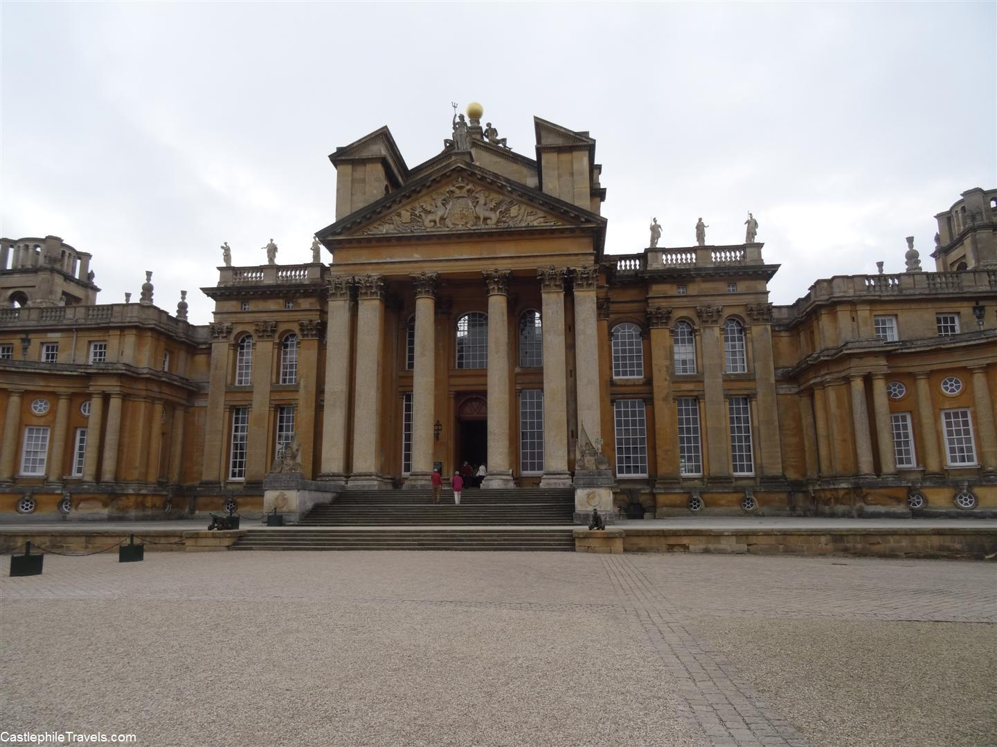 The courtyard of Blenheim Palace