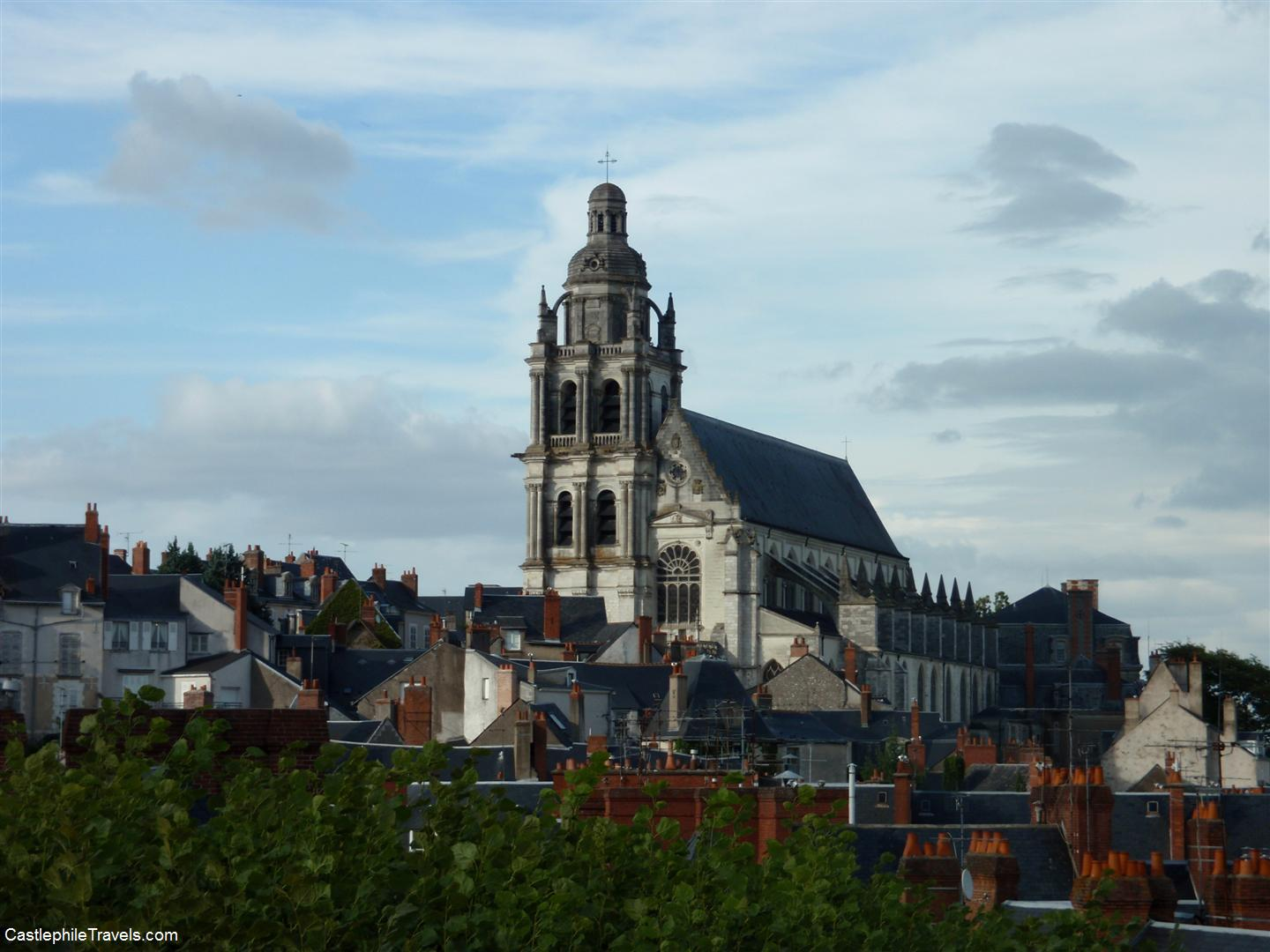 The Cathedral of Saint Louis, towering over the rooftops of Blois