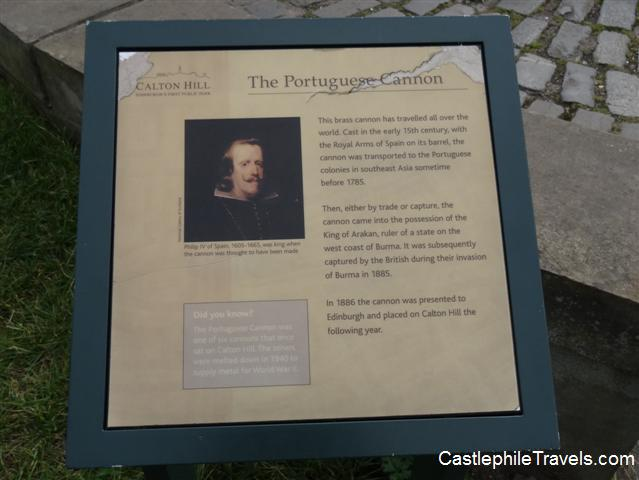 Sign describing the Poruguese Cannon