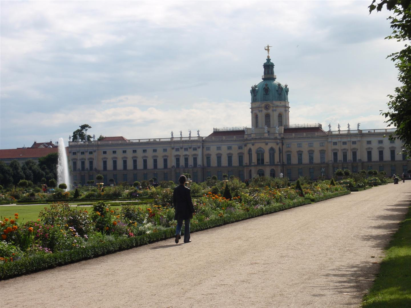 The formal gardens at Charlottenburg Palace