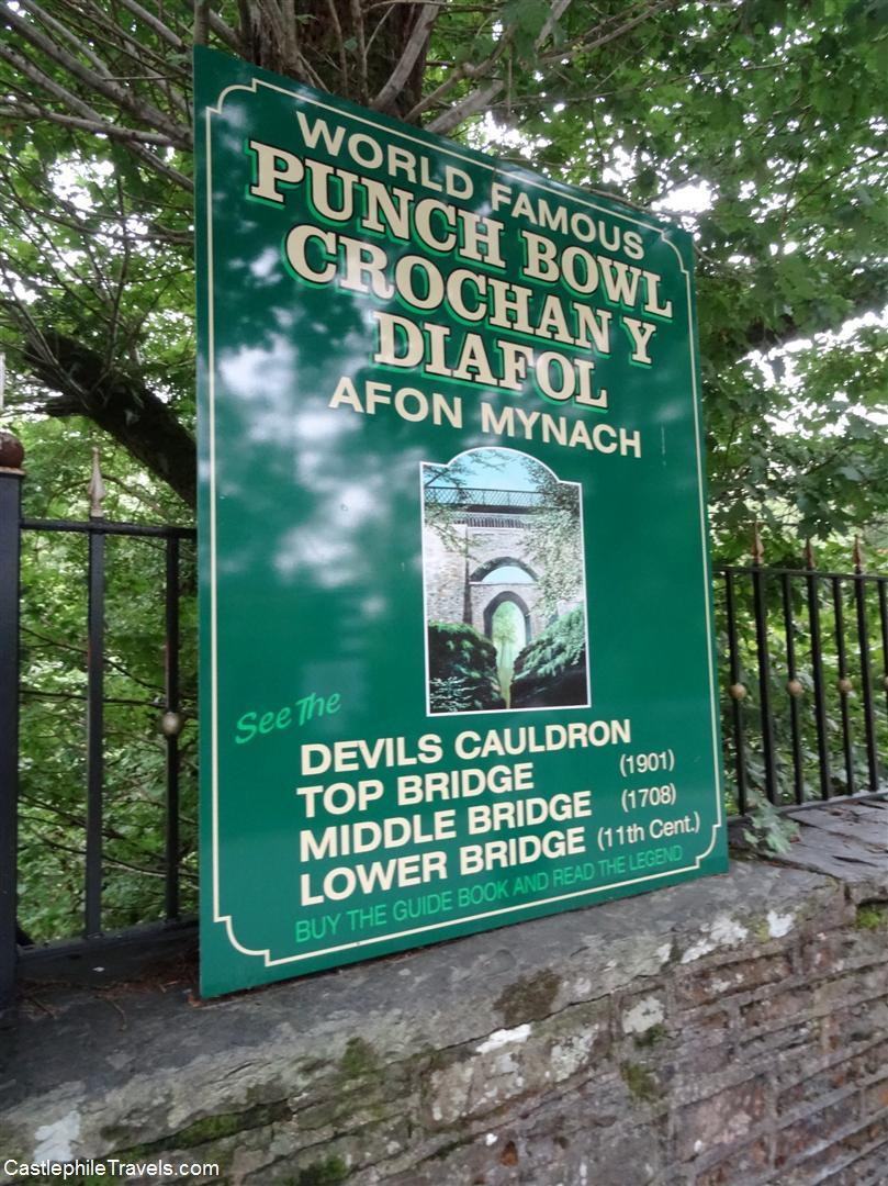 Devil's Bridge sign