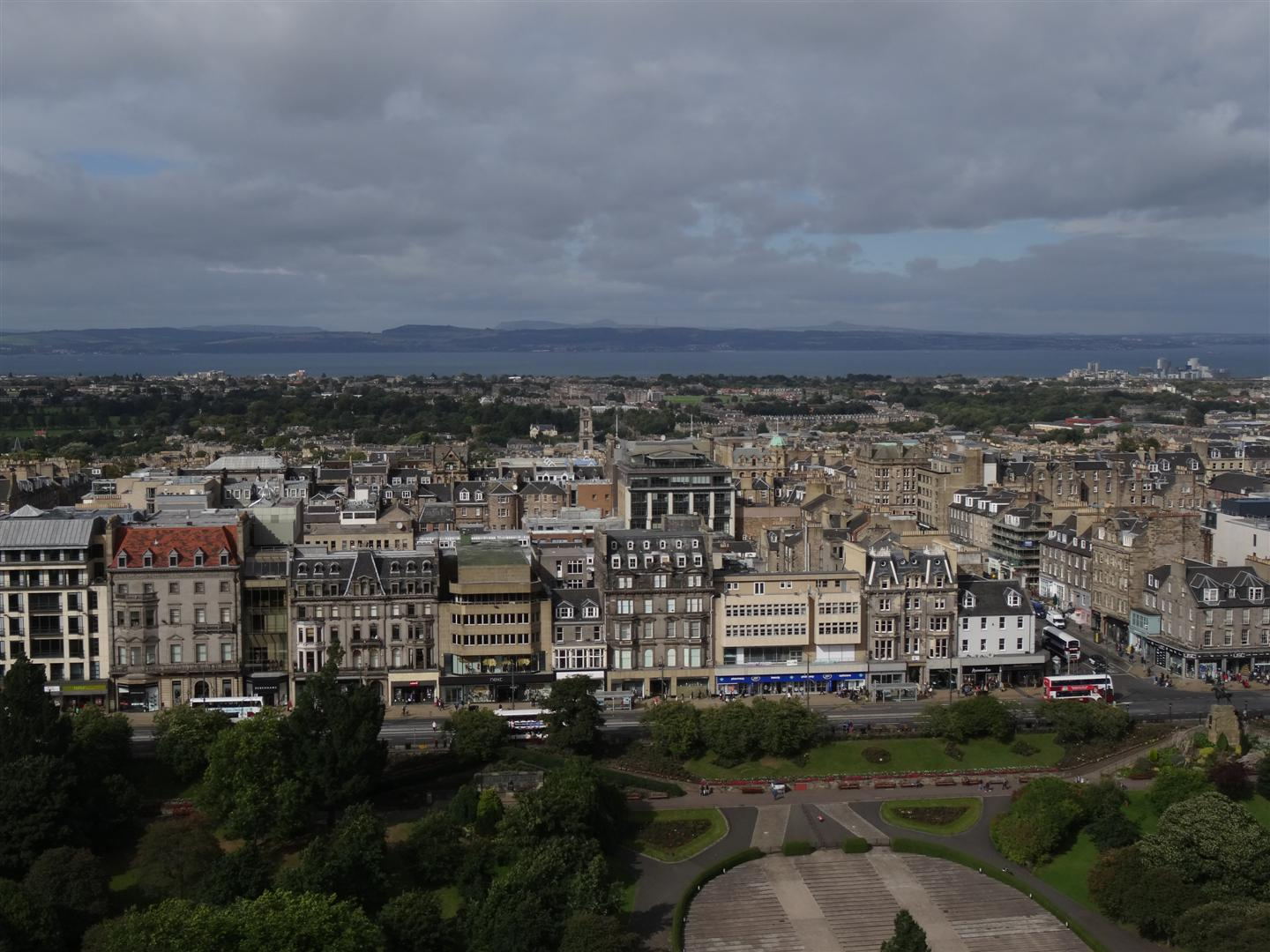 The view over Edinburgh from the Argyll Battery