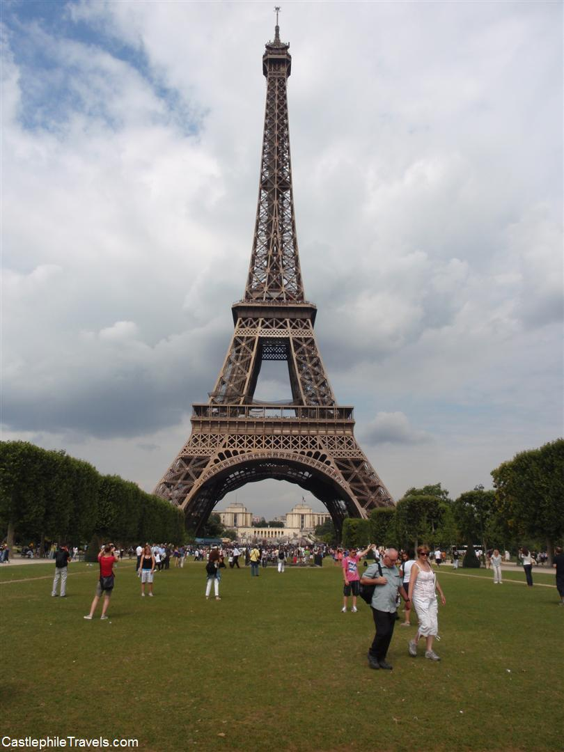 The Eiffel Tower from the Parc du Champs de Mars