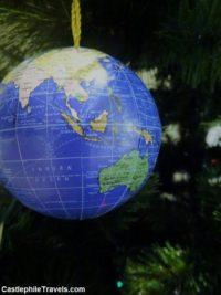 My globe Christmas decoration