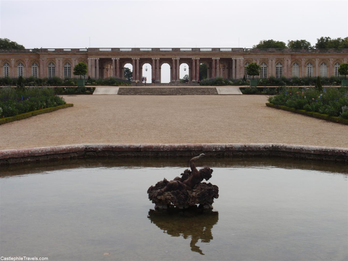 The portico and gardens of the Grand Trianon