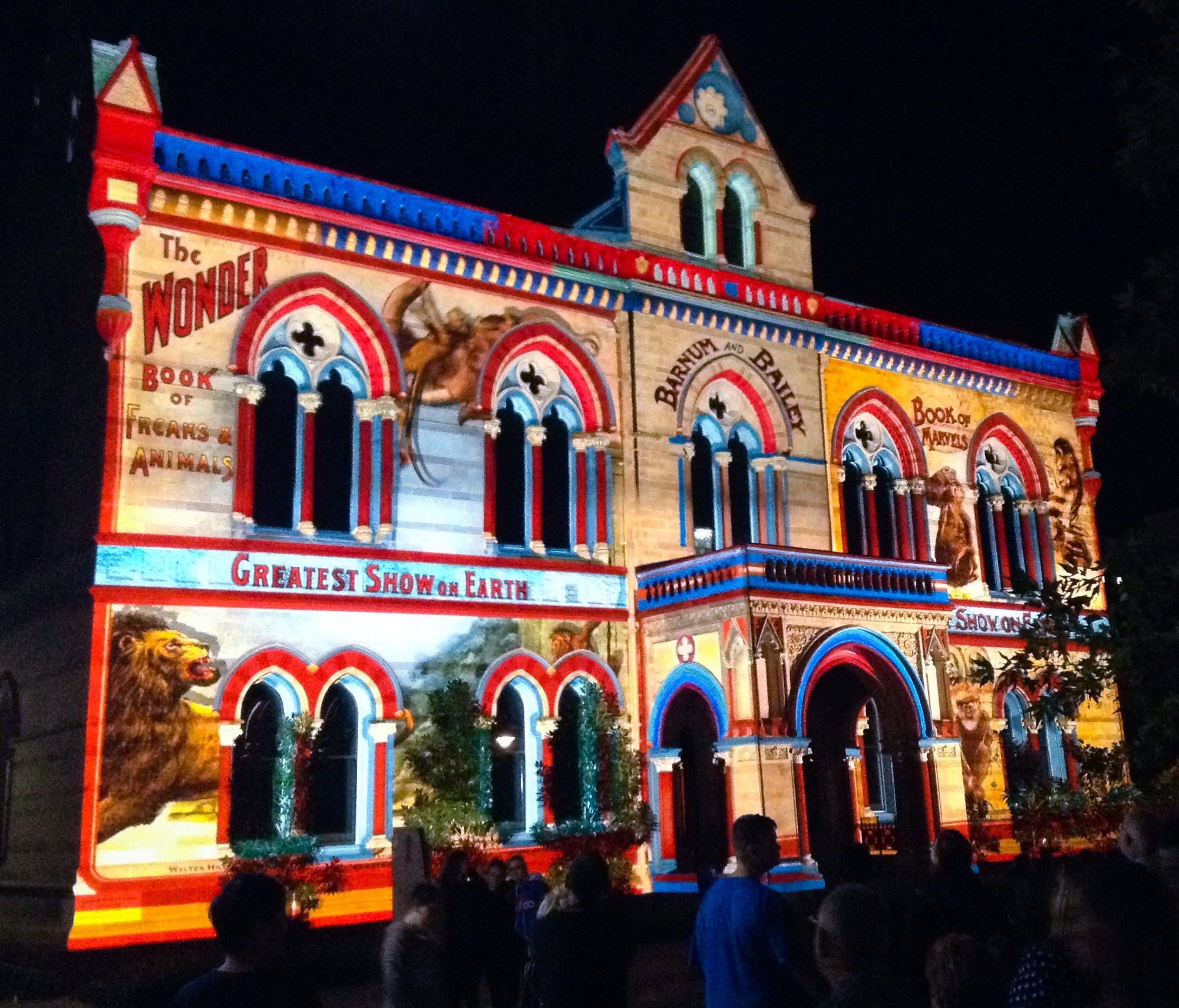 Roll Up Roll Up by The Electric Canvas - projections on the South Australian Museum