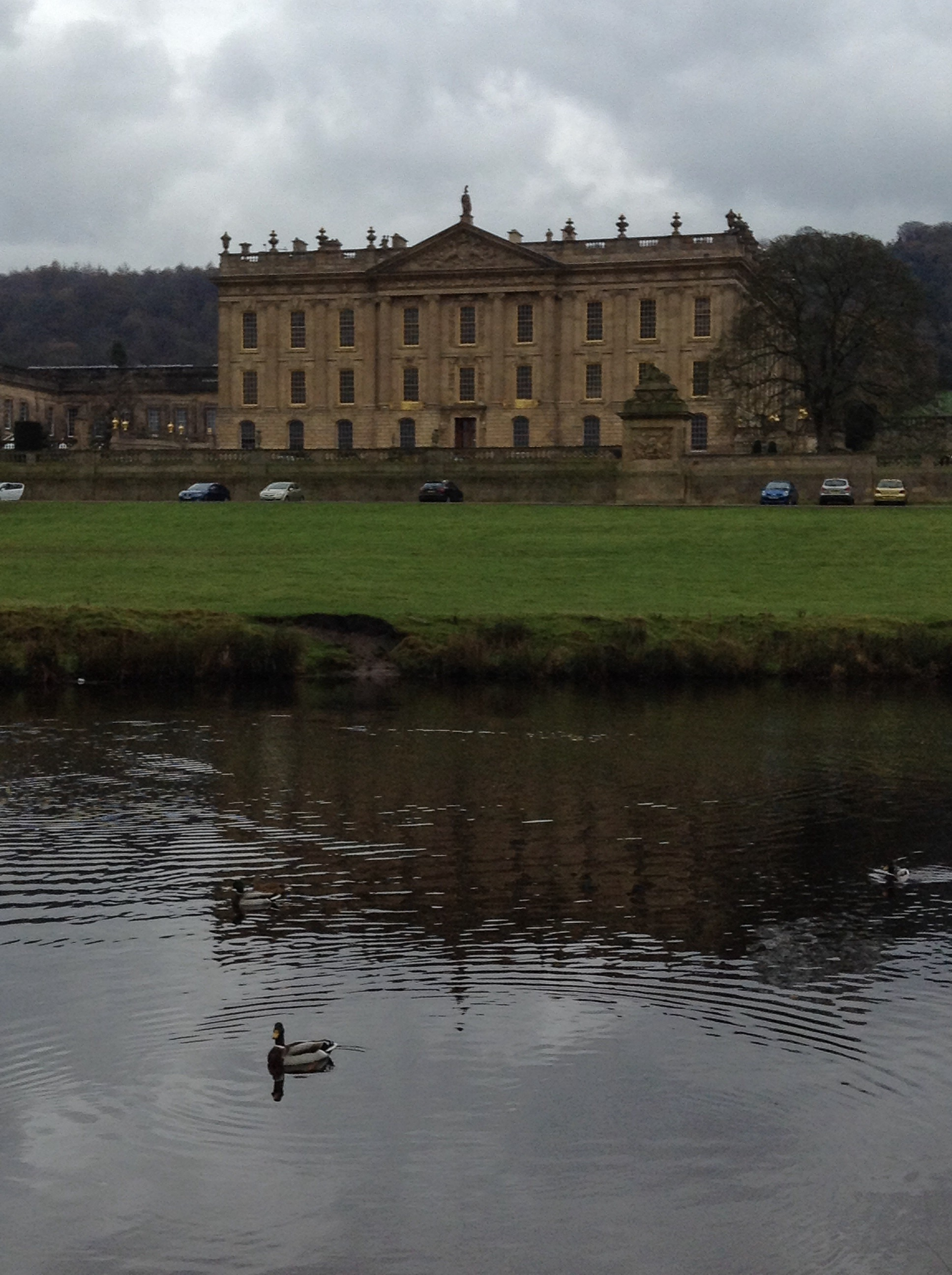 Chatsworth House from across the river