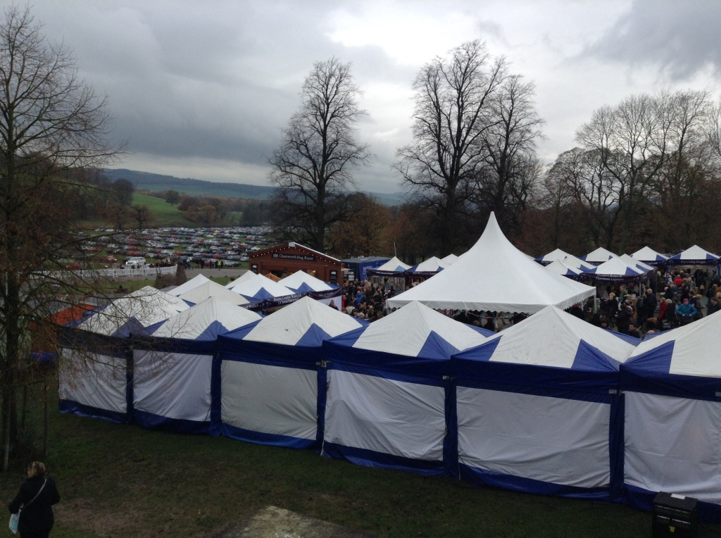 The busy Christmas markets at Chatsworth House