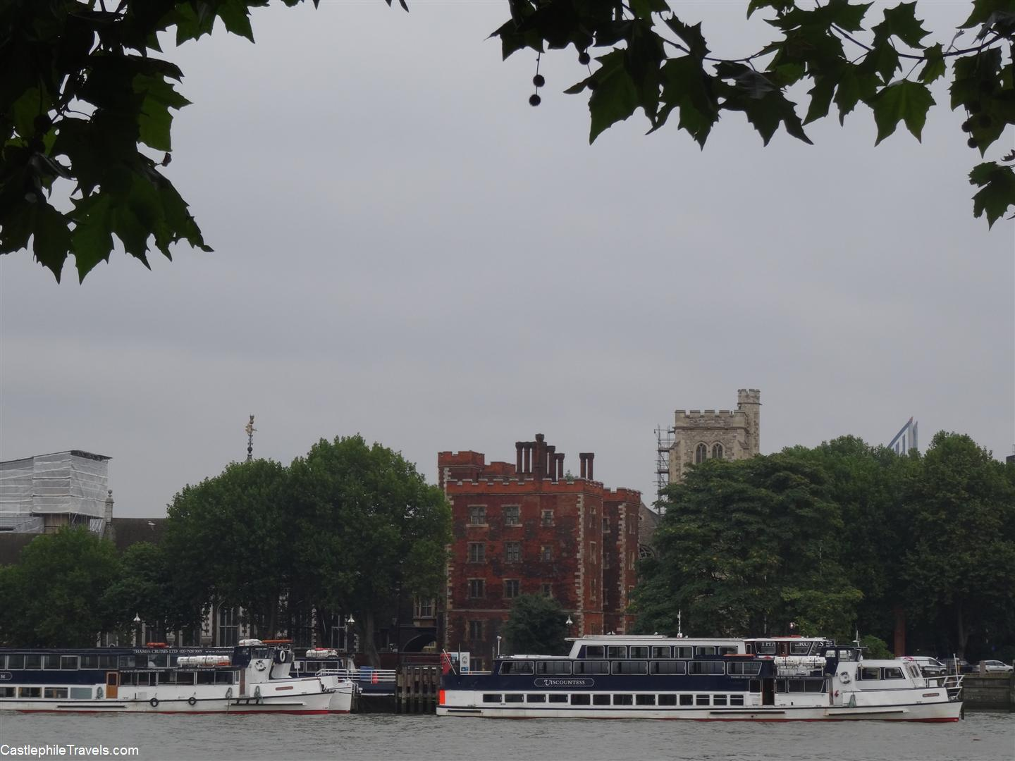 Looking across the Thames towards Lambeth Palace