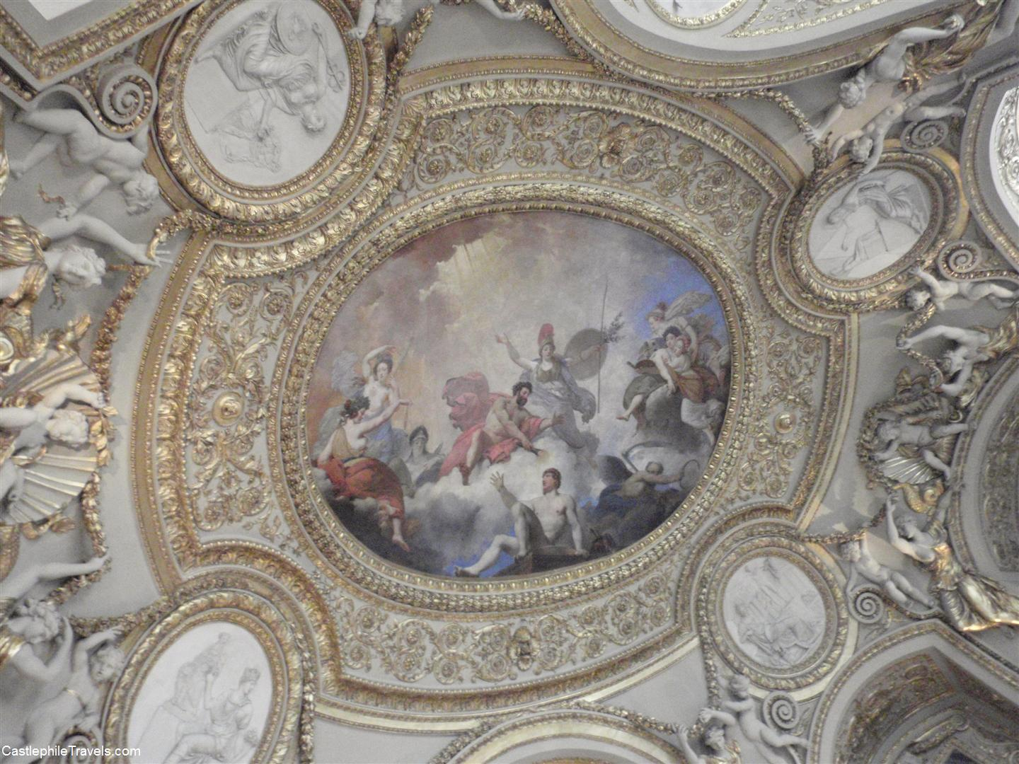One of the painted ceilings of the Louvre