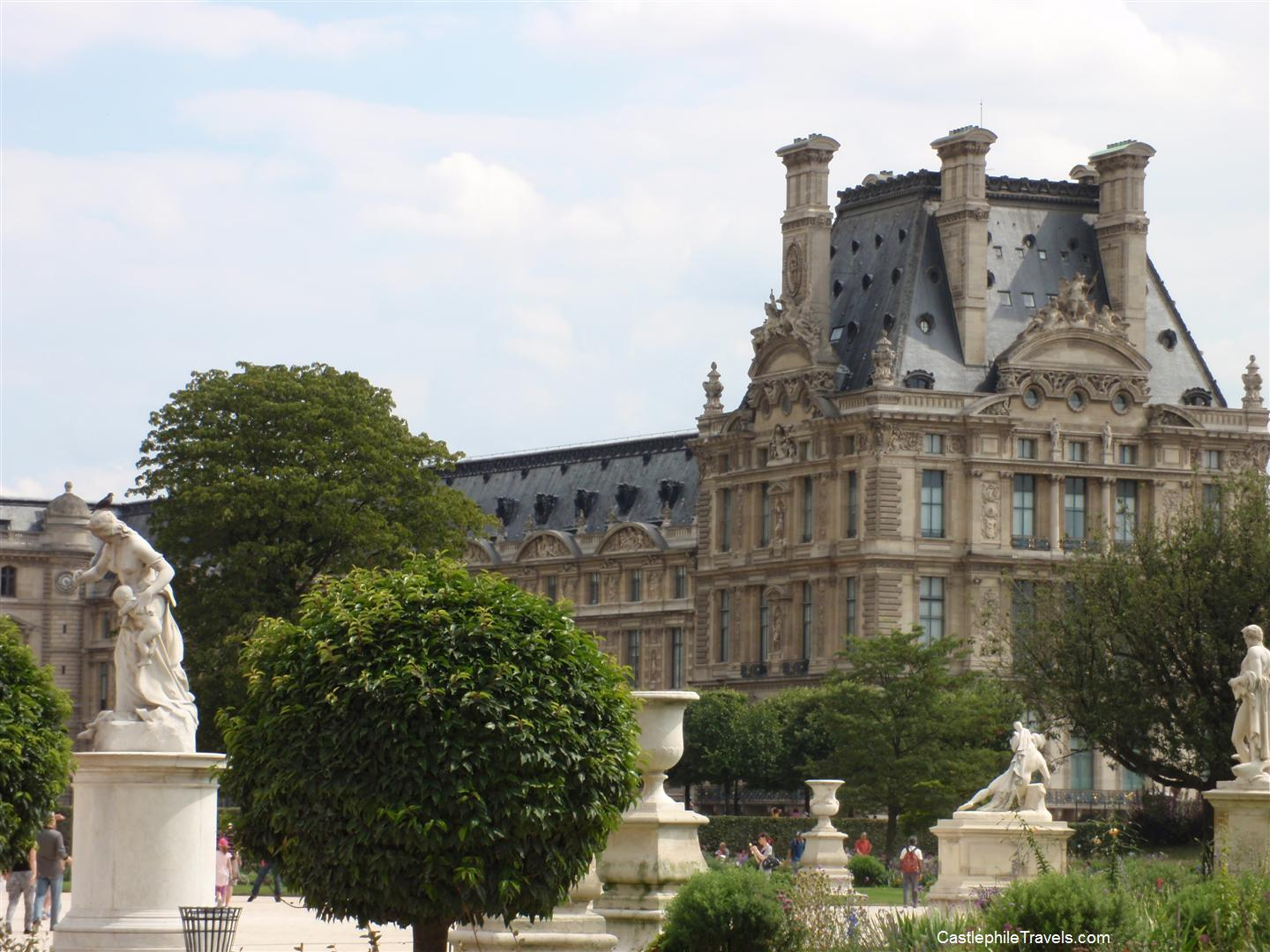 The Louvre from the gardens