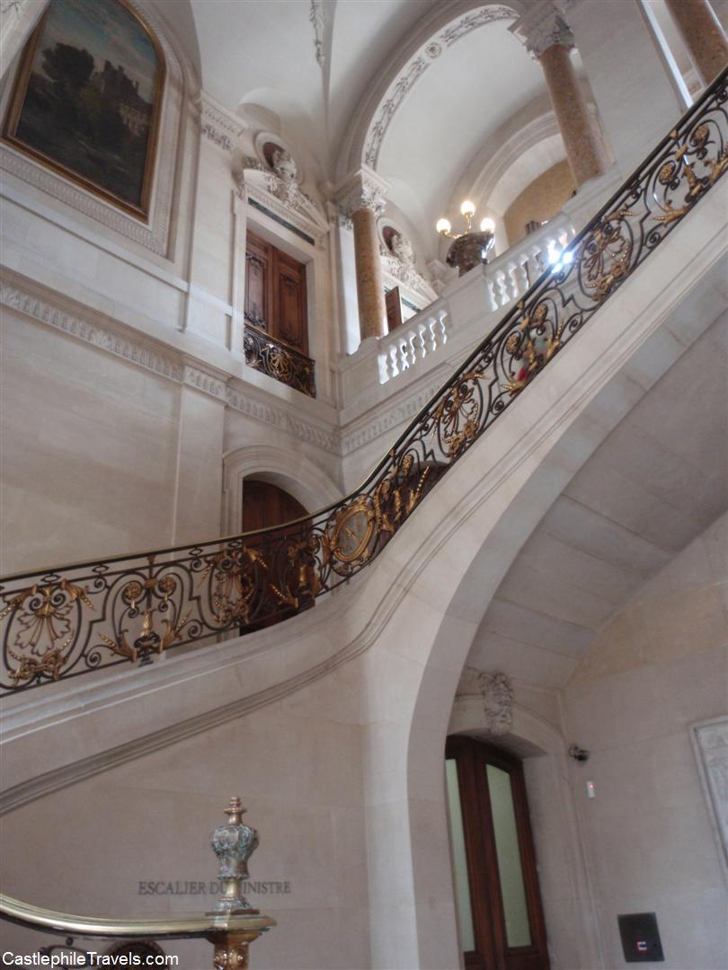 The staircase leading from Cour Marly to Napoleon III's apartments