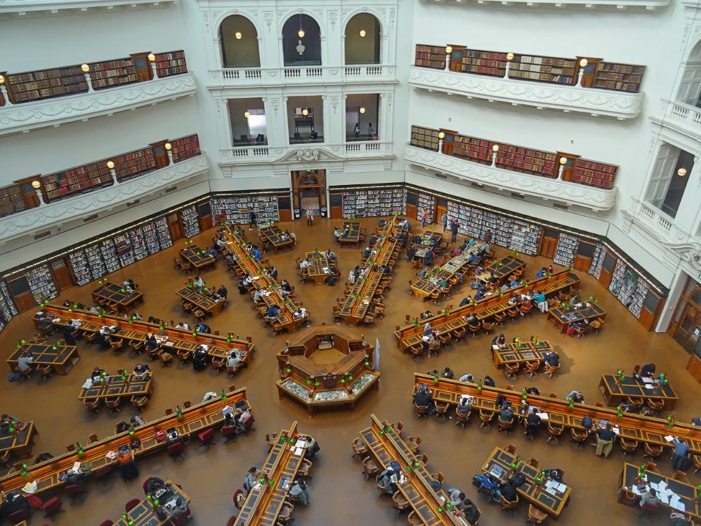 The Reading Room in the State Library of Victoria