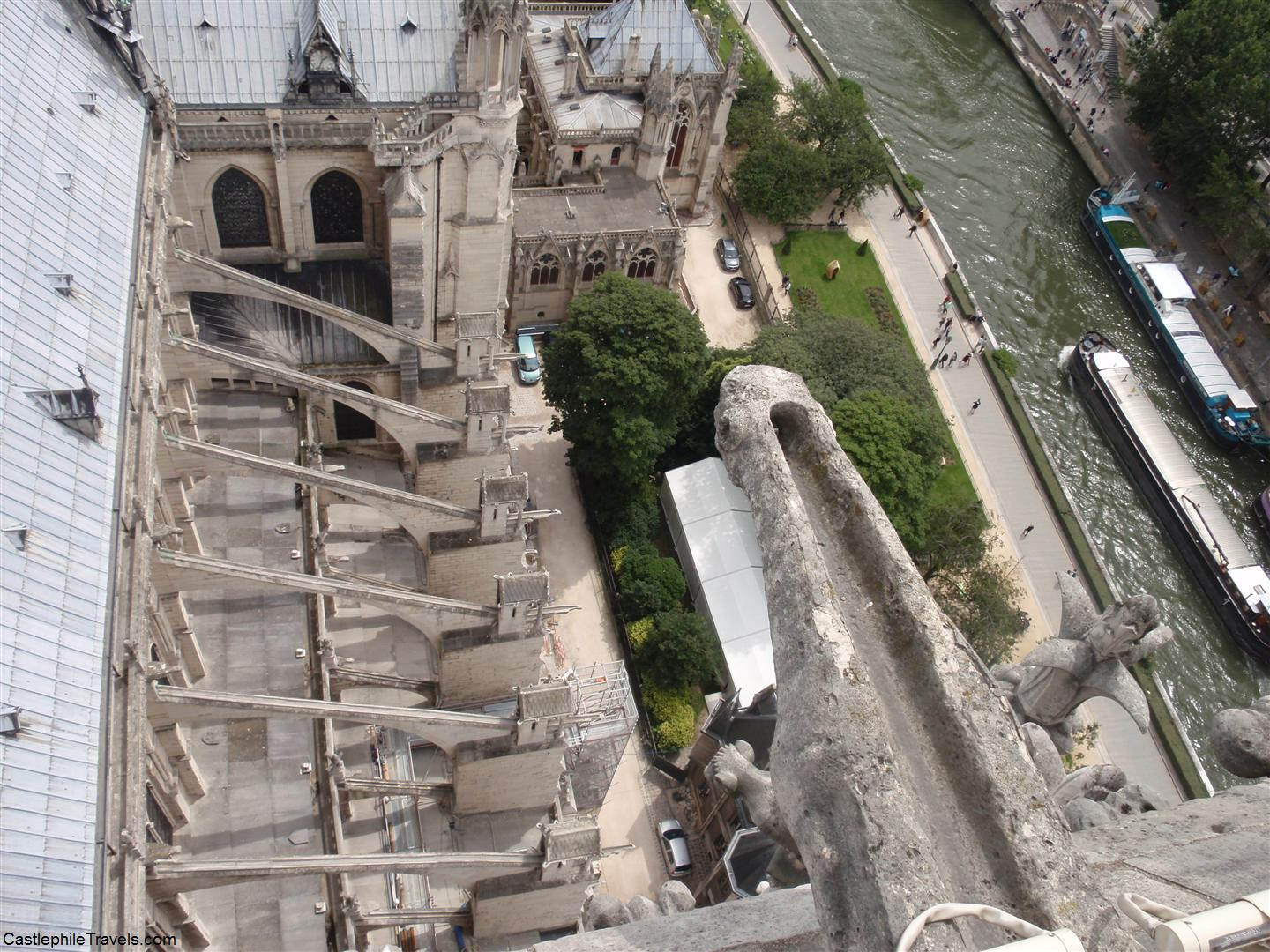 Looking down over the cathedral