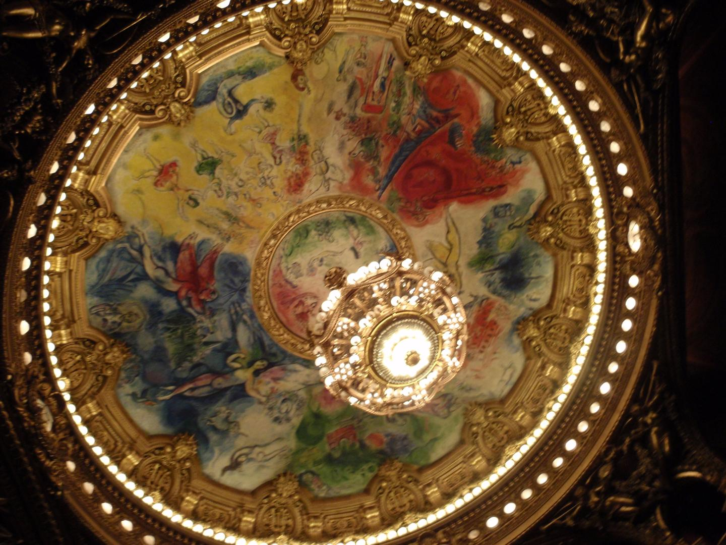 Chagall's painted ceiling