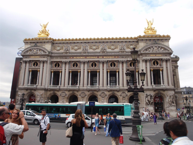 The exterior of the Palais Garnier