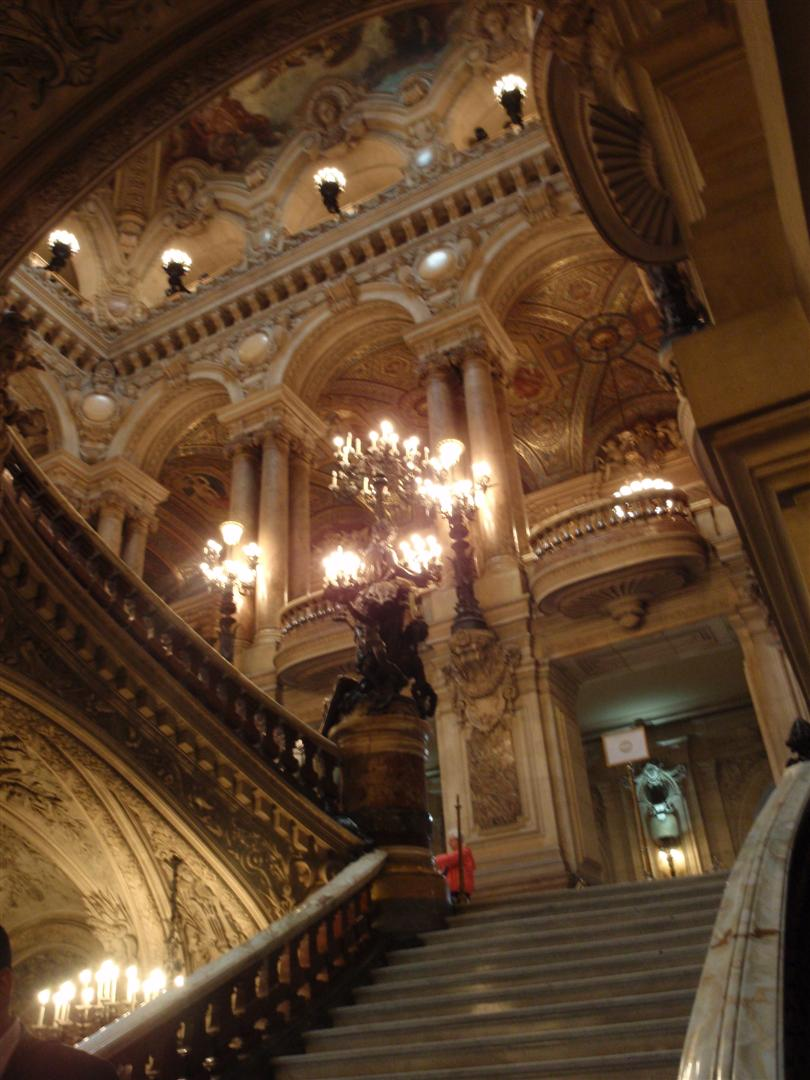 The Grand Staircase at the Palais Garnier