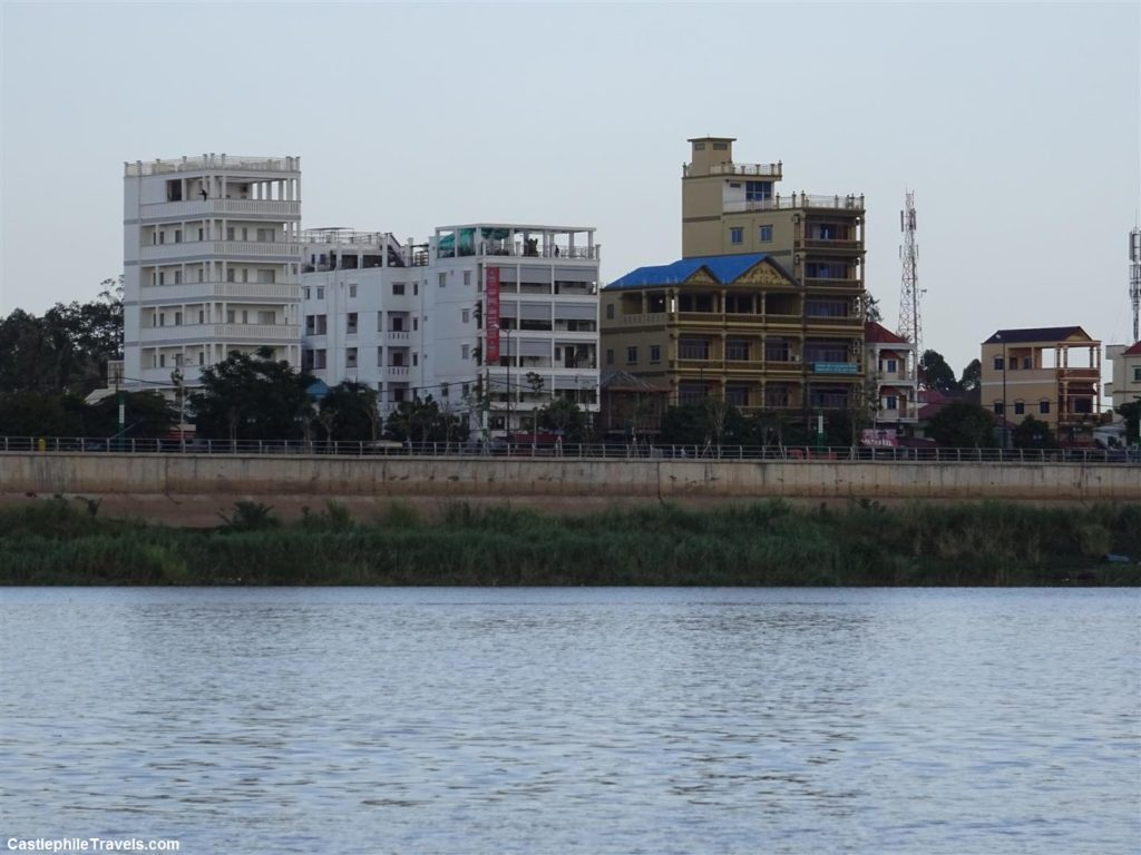 Houses along the river in Phnom Penh