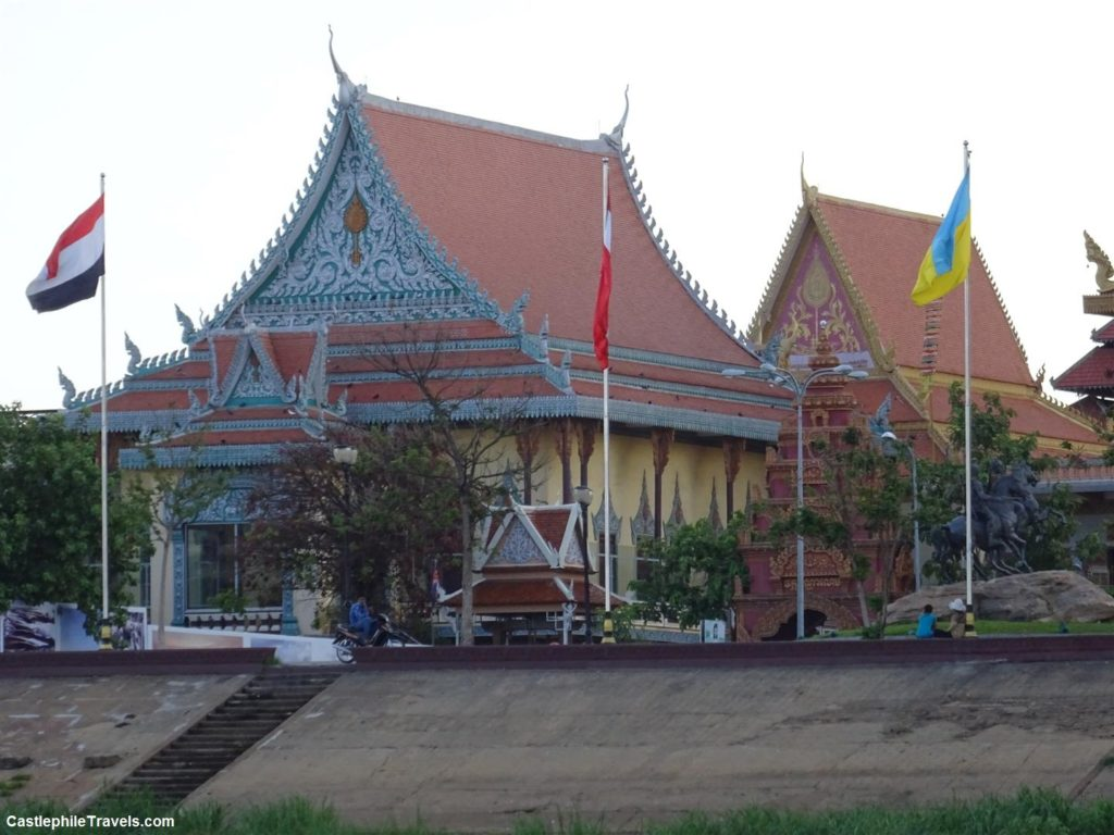 Seeing Phnom Penh from the river gave us more time to appreciate the style of Cambodian buildings