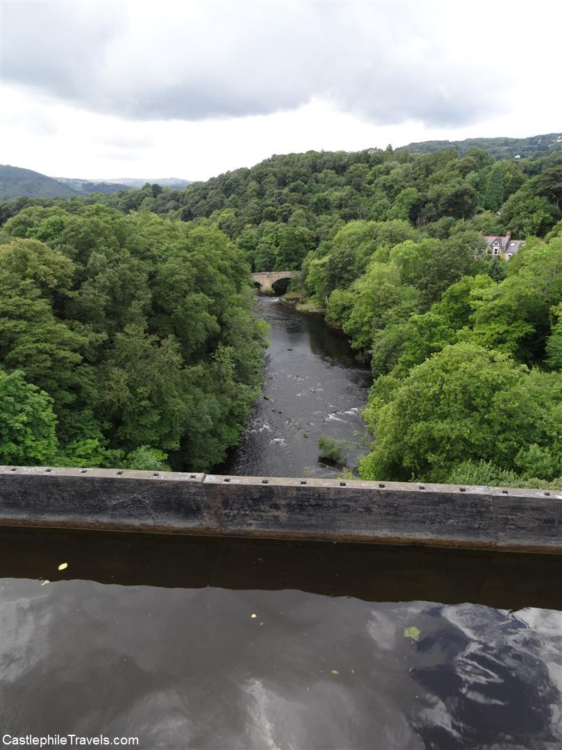 Looking down: the Pontcysyllte Aqueduct carries the Llangollen Canal over the River Dee