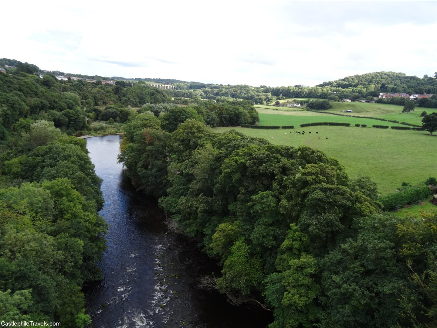 The view from the top of the Pontcysyllte Aqueduct