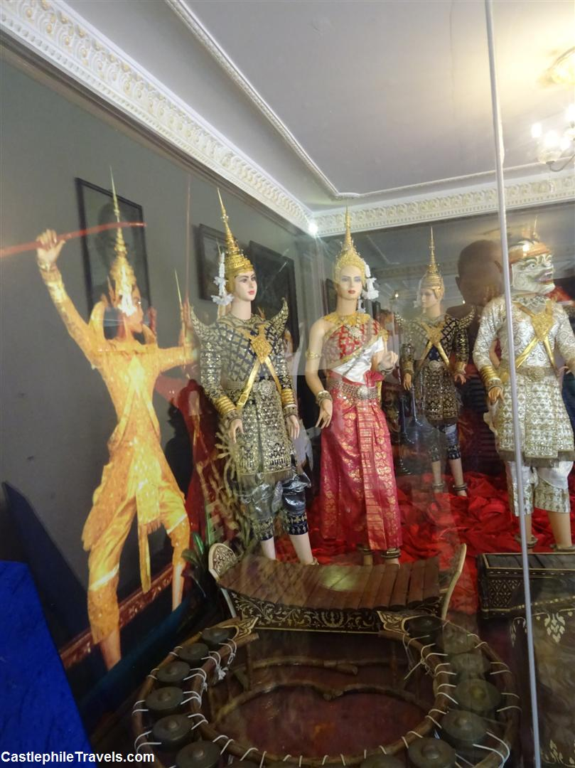 Traditional dancer's costumes on display in the exhibition rooms