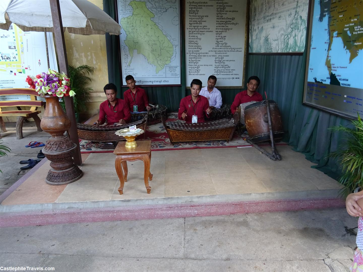 Musicians playing traditional Cambodian music