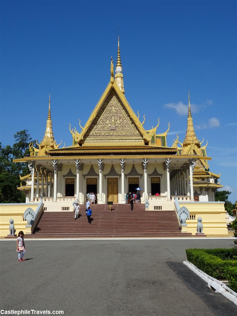 Preah Tineang Chanchhaya (the throne hall) is one of the first buildings you see upon entering the palace grounds