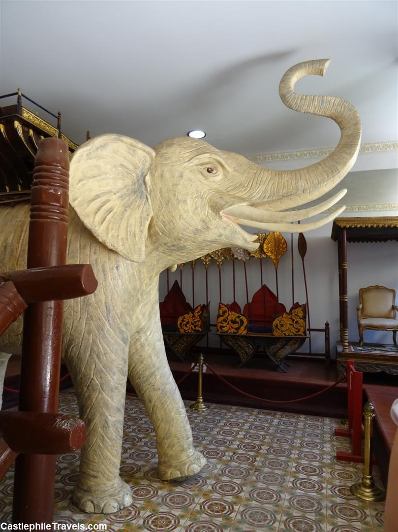 The White Elephant in one of the exhibition rooms