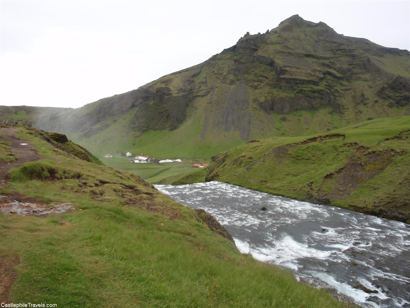 The top of Skogafoss