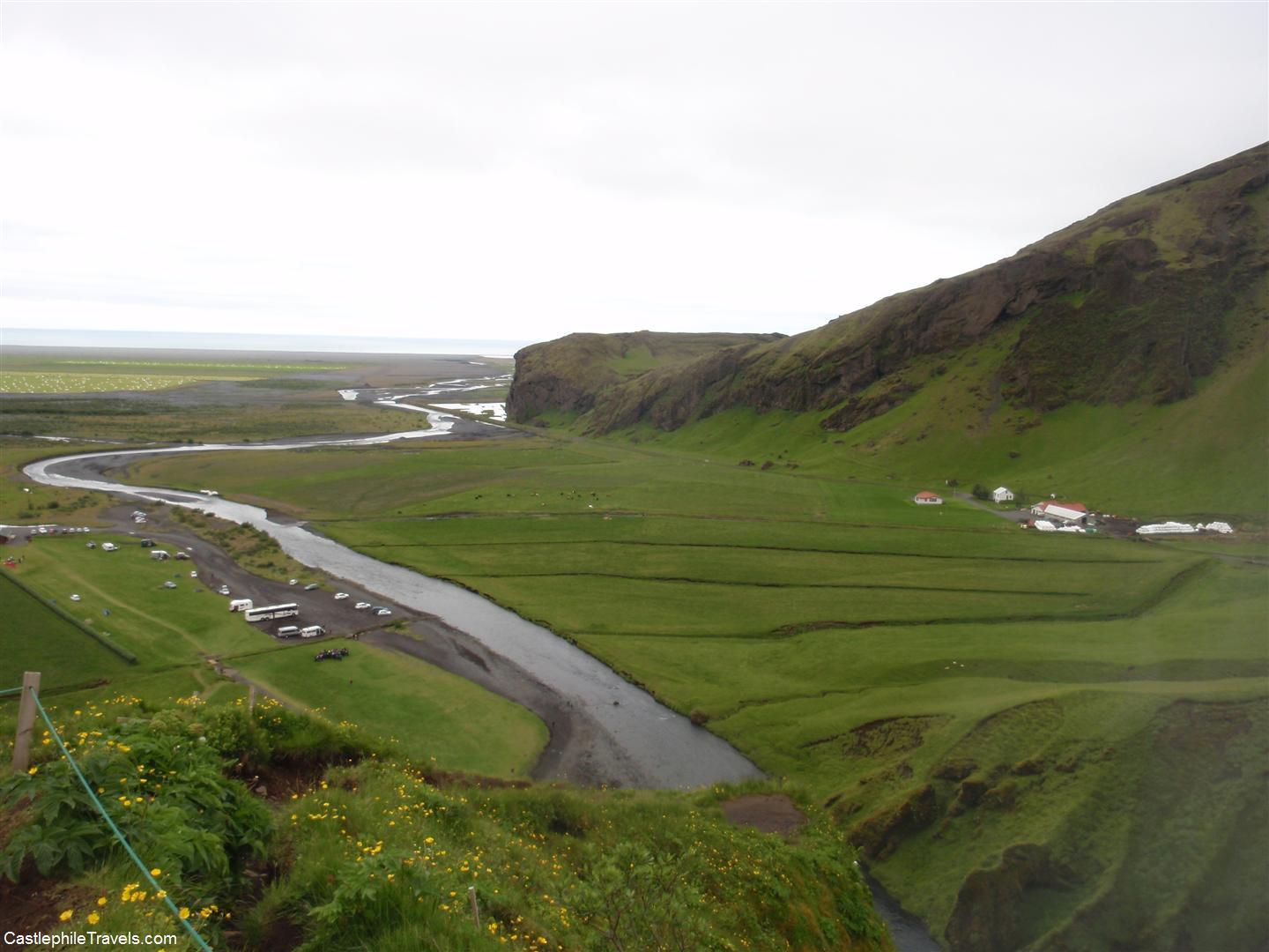 The lookout from the top of Skogafoss