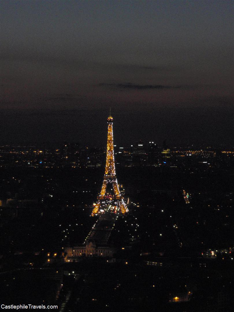 The Eiffel Tower sparkles